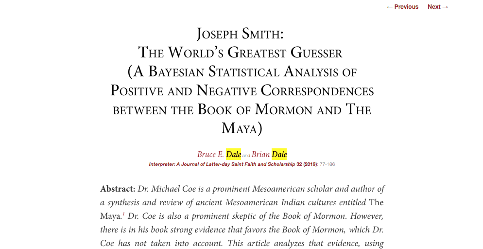 A Response to the Bayesian Analysis of Book of Mormon Historicity